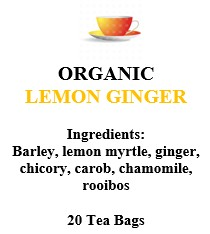 Lemon Ginger Rooibos | 20 tea bags